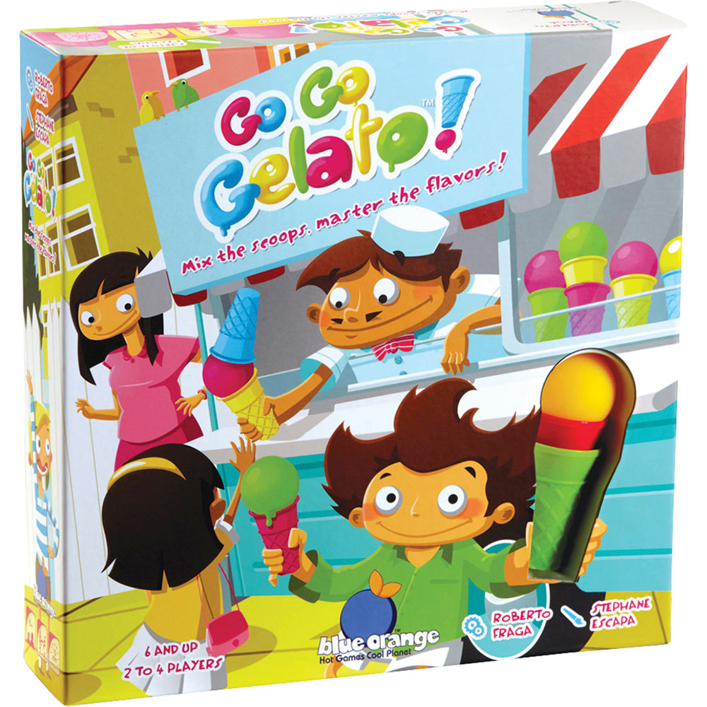 Blue orange go go gelato game monkey fish toys for Monkey fish toys