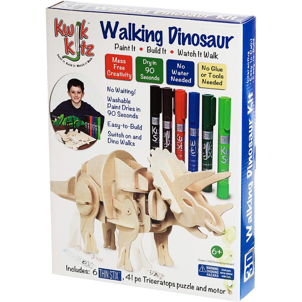 Kwik Kitz Walking Dinosaur Kit - 3D Triceratops - The Good