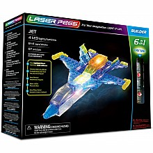 Laser Pegs 6 in 1 Jet Building Set