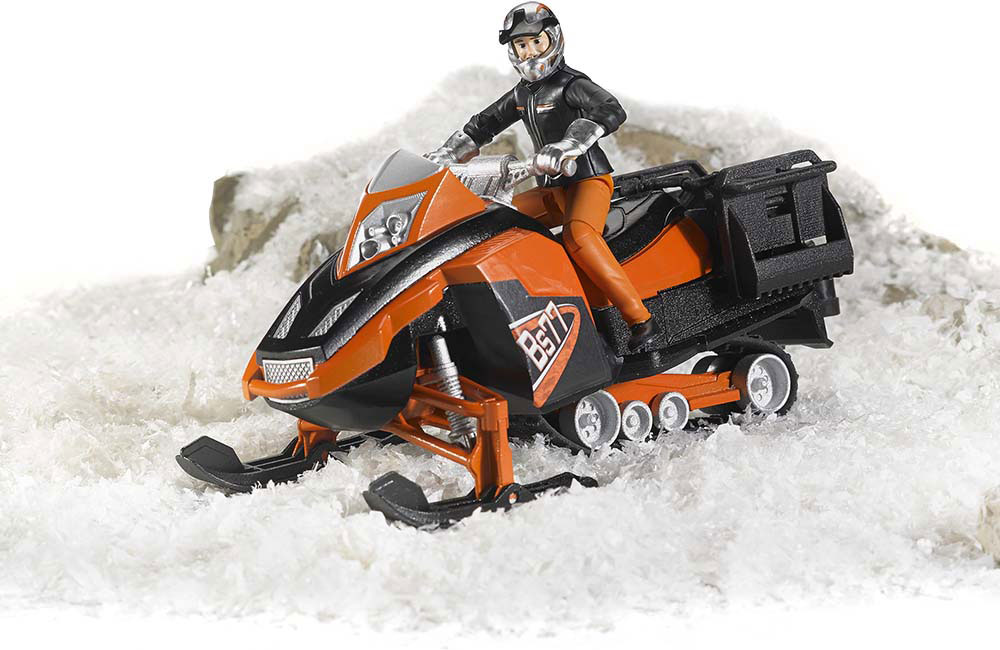 DEMO-SITE - Bruder Snowmobile with Driver and Accessories
