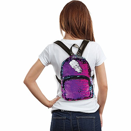 Magic Sequin Mini Backpack-Gradient/Silver