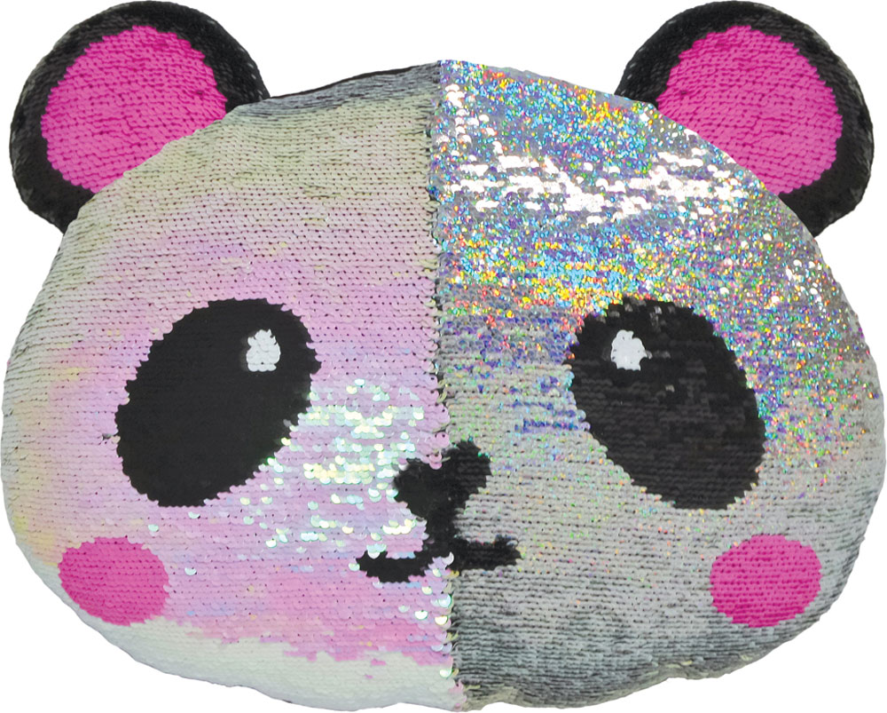 Panda Reversible Sequin Pillow