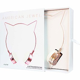 American Jewel Cat Headphones - Rose Gold