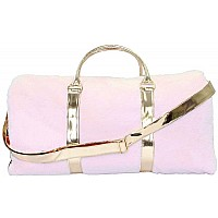 American Jewel Disco Vibe Fur Duffle Bag - Rose Gold