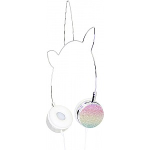 American Jewel Unicorn Headphones - Glitter Rainbow