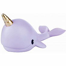 Narwhal Night Light - Purple