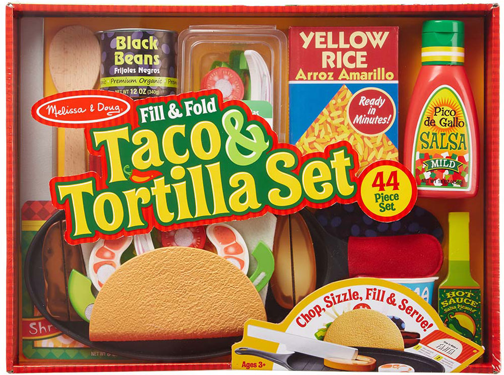 Image result for melissa and doug taco and tortilla set