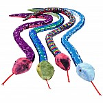 "Sequinimals - 67"" Sequin Plush Snake - Asst"