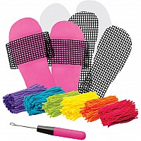 Latch Hook Slipper Kit