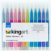 KINGART™ Glitter Markers, Set of 12