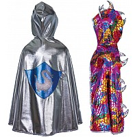Great Pretenders Reversible Knight Dragon Cape Size 5-6