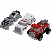 Magnetic Build-A-Truck - Fire and Rescue