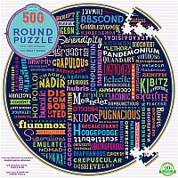 500 pc 100 Great Words Round Puzzle