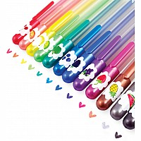 Yummy Yummy Scented Glitter Gel Pens - Set of 12