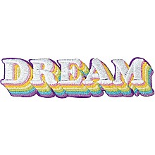 Dream Embroidered Sticker Patch