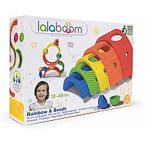 Lalaboom Rainbow & Beads - 13 pcs