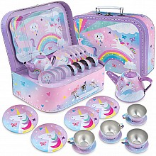 15 pc Cotton Candy Tea Set