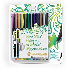 Chameleon Fineliners 12 pack - Bright Colors