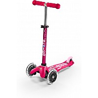 Micro MINI Deluxe LED Pink Scooter