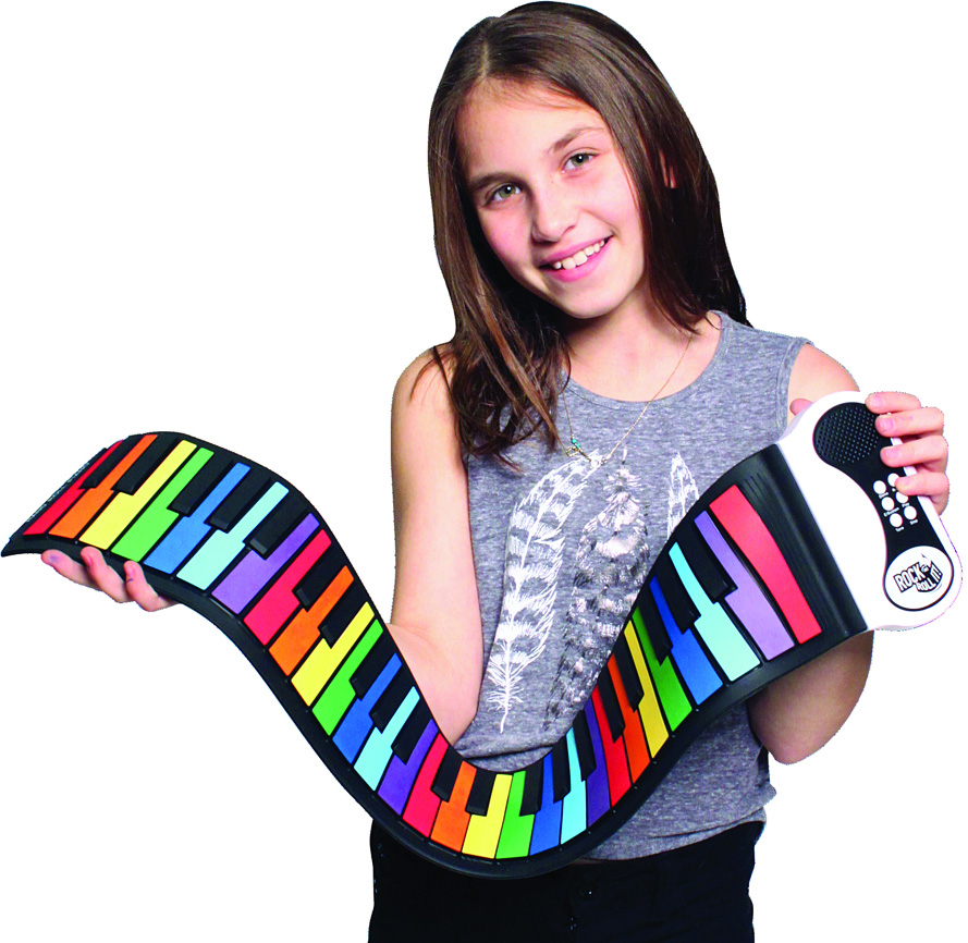 Rock N' Roll It! Rainbow Piano - Geppetto's Toys - Mukikim