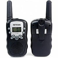 Retevis 2 pcs Kids Walkie Talkies with Flashlight - Black