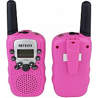 Retevis 2 pcs Kids Walkie Talkies with Flashlight - Pink