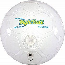 NightBall Inflated Soccer Ball - White