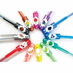 OOLY Yummy Yummy Scented Glitter Gel Pens - Set of 12