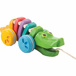 Rainbow Dancing Alligator Pull Toy