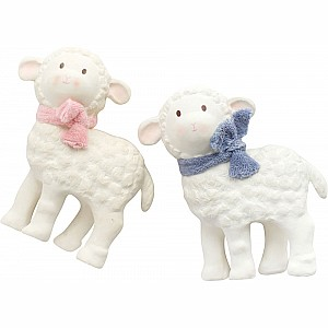 Lucas the Lamb Natural Rubber Toy