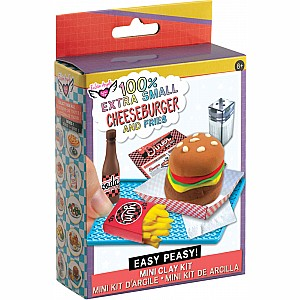 Fashion Angels 100% Extra Small Mini Clay Kit - Cheeseburger & Fries