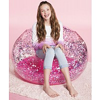 Inflatable Sparkle Chair - Pink
