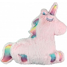 Iscream Furry Rainbow Pink Unicorn Pillow - Vanilla Scented