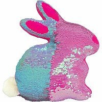 Iscream Bunny Reversible Sequin Pillow