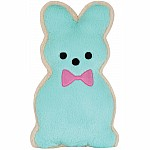 Bunny Cookie Furry Pillow - Blue