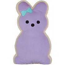 Bunny Cookie Furry Pillow - Purple