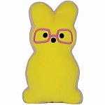 Bunny Cookie Furry Pillow - Yellow