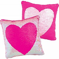 Magic Sequin Heart Pillow