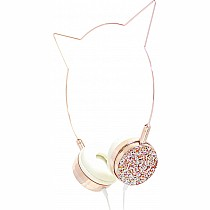 American Jewel Rose Gold Cat Headphones