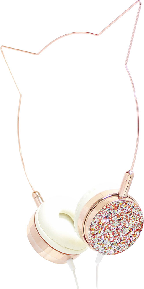 Rose Gold Cat Headphones
