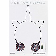 American Jewel Confetti Unicorn Headphones