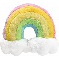 Iscream Furry Rainbow Neck Pillow