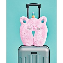 Iscream Furry Pink Unicorn Neck Pillow