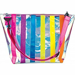Iscream Iridescent Striped Clear Tote Bag
