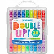 Double Up! 2-in-1 Mini Marker Travel Set - Set of 36