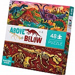 Above + Below Floor Puzzle - Dinosaur World 48 pc