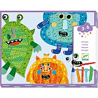 Happy Monsters Tear & Stick Collages