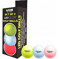 4FUN Set of 3 LED Golf Balls Free with Mini Golf Purchase