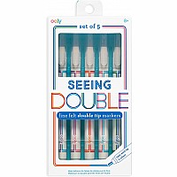 Seeing Double Fine Felt Double Tip Markers - Set of 5