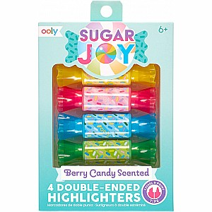 Sugar Joy Berry Candy Scented Double-Ended Highlighters - Set of 4